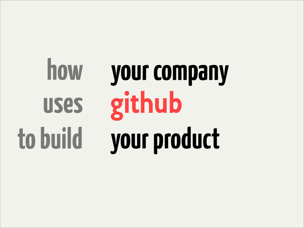 how uses to build github your company your prod...