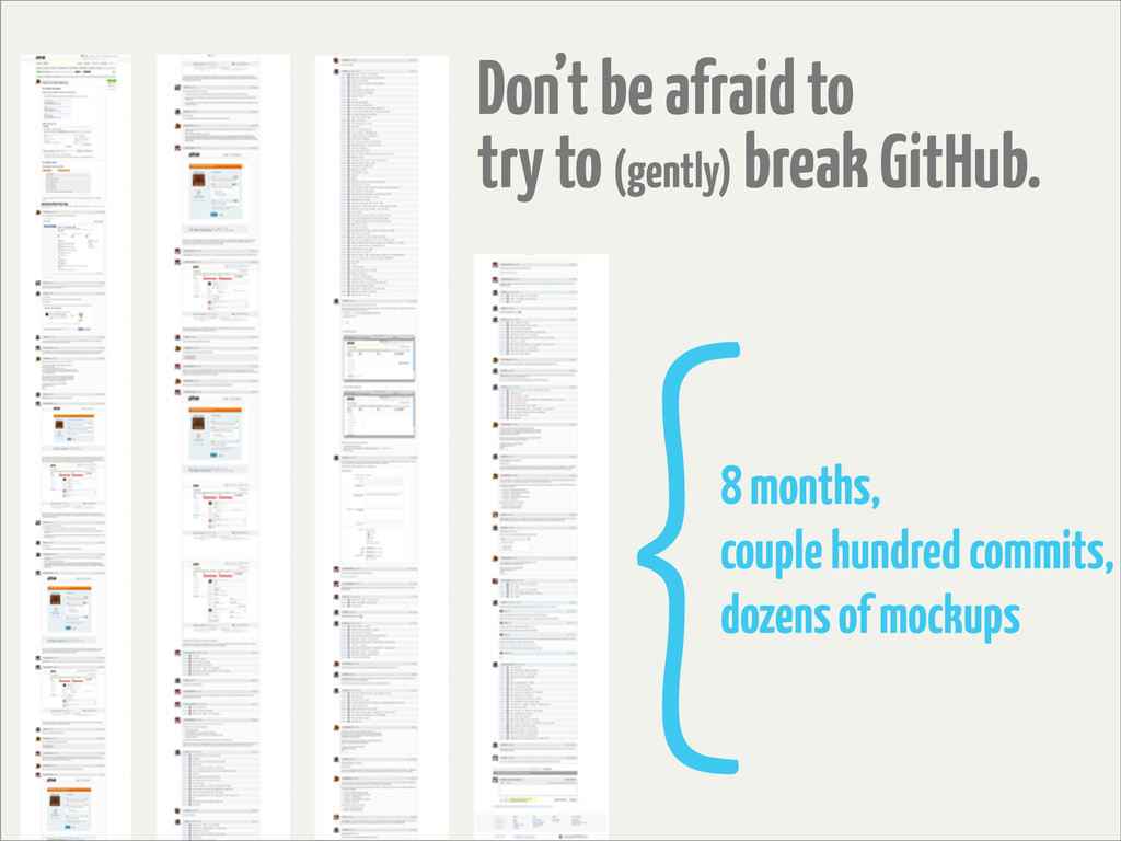 Don't be afraid to try to (gently) break GitHub...