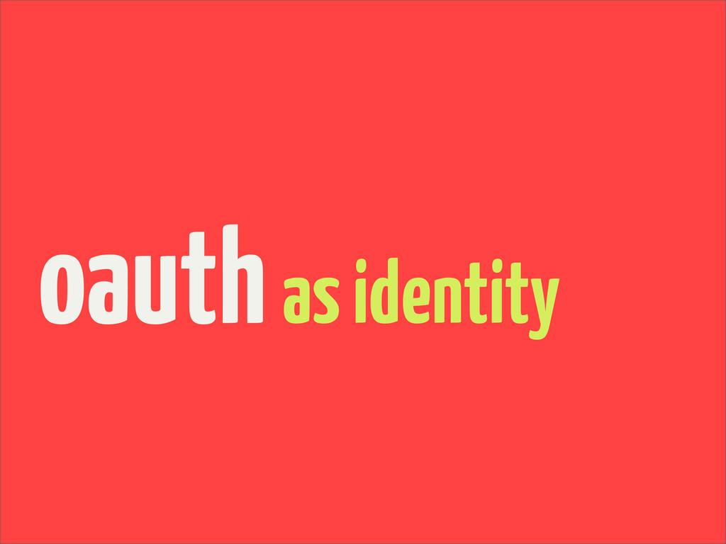 oauthas identity