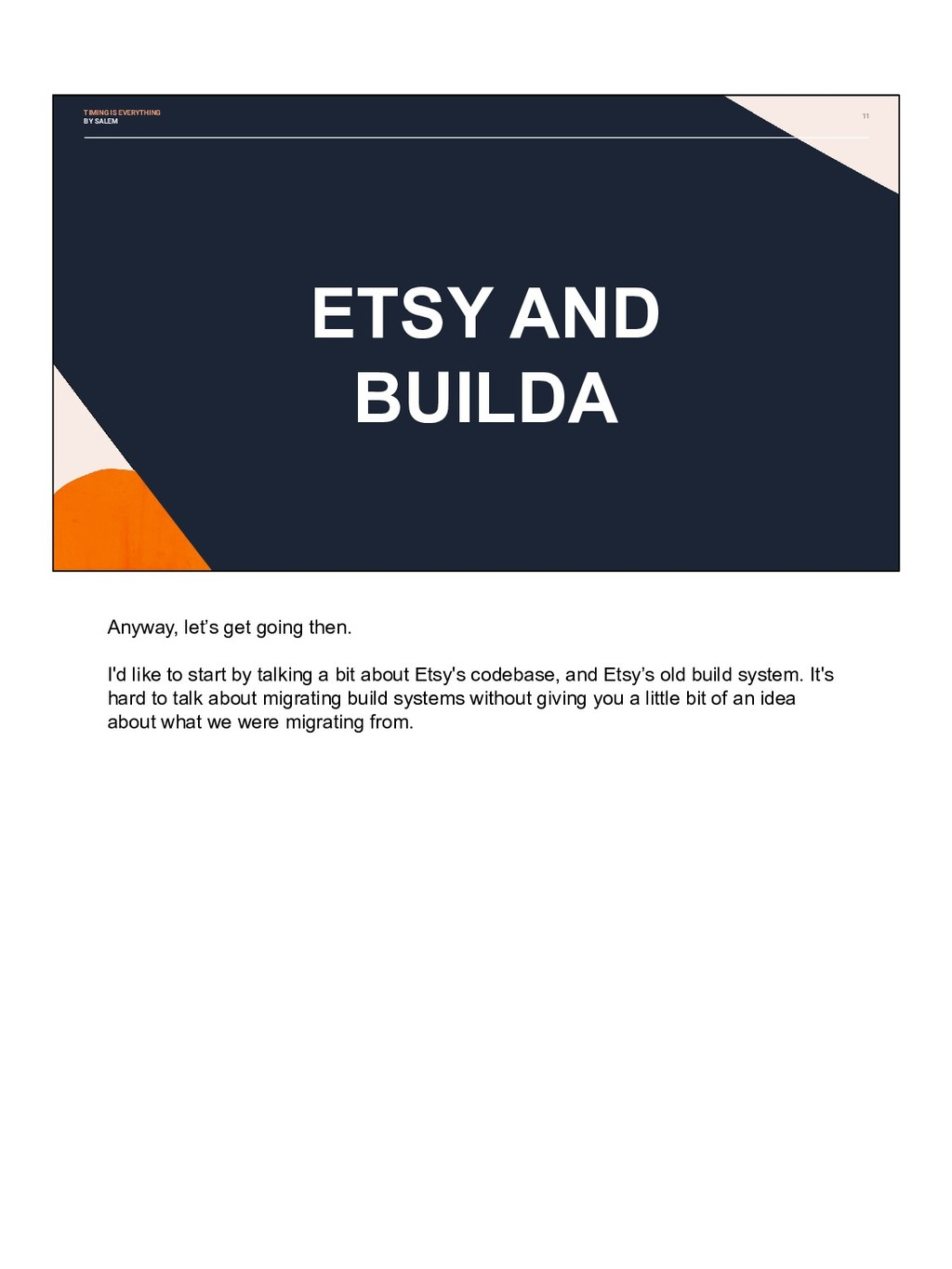 11 ETSY AND BUILDA TIMING IS EVERYTHING BY SALE...