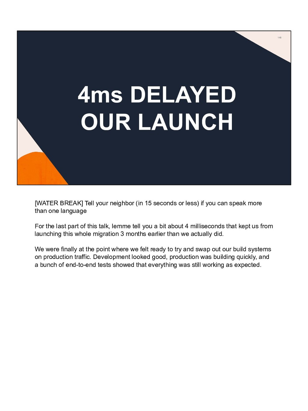 148 4ms DELAYED OUR LAUNCH [WATER BREAK] Tell y...