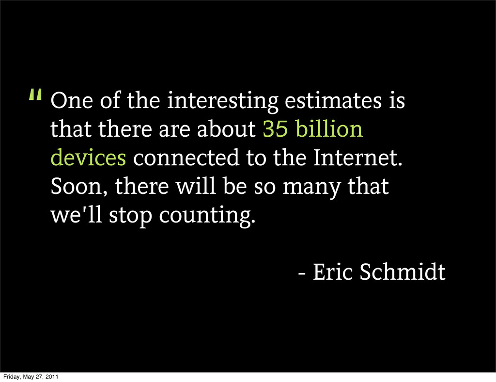 One of the interesting estimates is that there ...