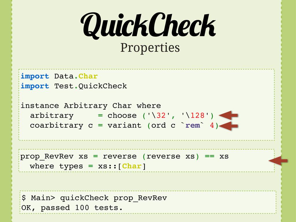 Q C import Data.Char import Test.QuickCheck ins...