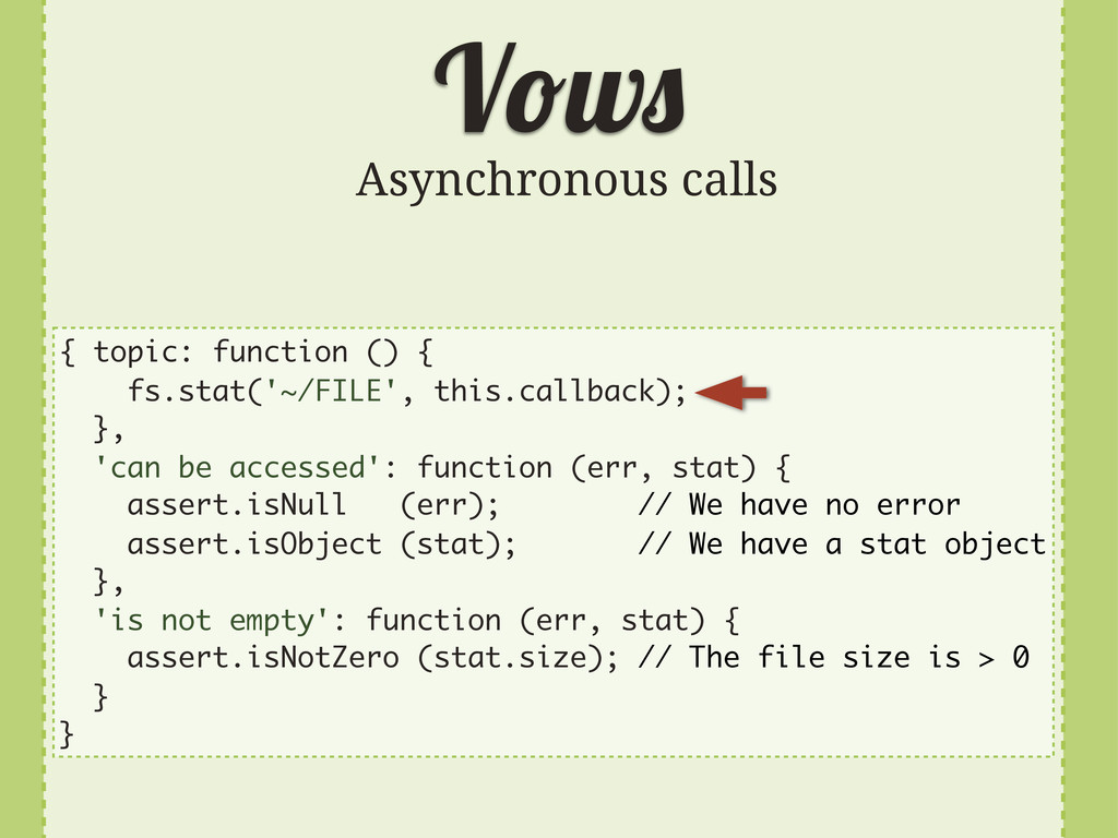 V w Asynchronous calls { topic: function () { f...
