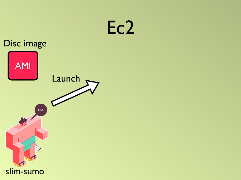 Ec2 AMI Launch slim-sumo Disc image