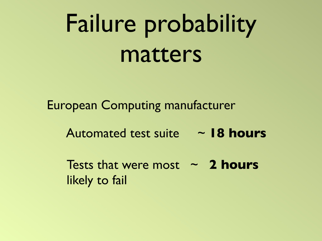 Failure probability matters European Computing ...