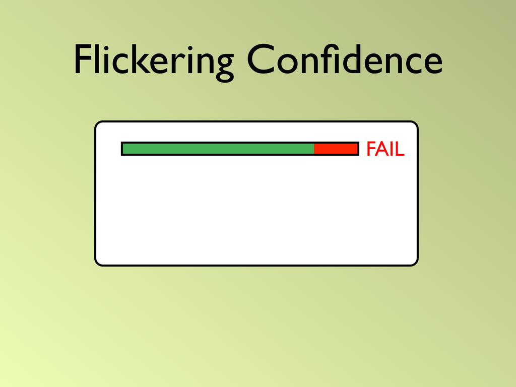 Flickering Confidence FAIL