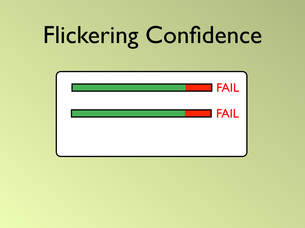 Flickering Confidence FAIL FAIL