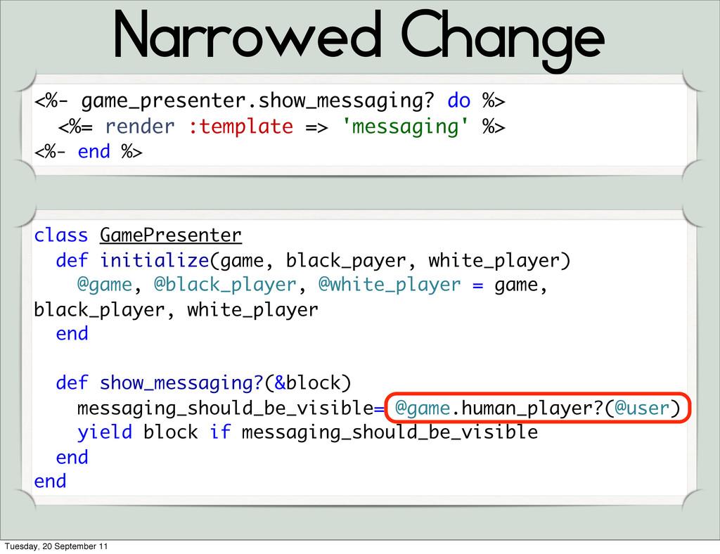 Narrowed Change class GamePresenter def initial...