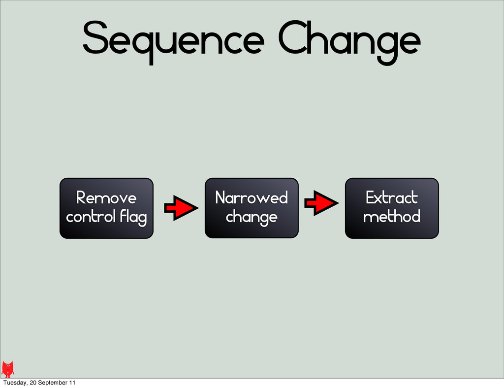 Sequence Change Narrowed change Remove control ...