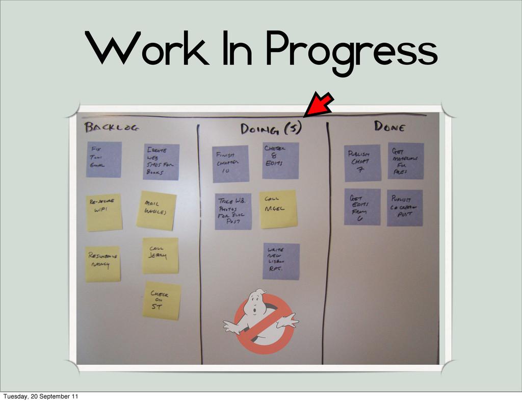 Work In Progress Tuesday, 20 September 11