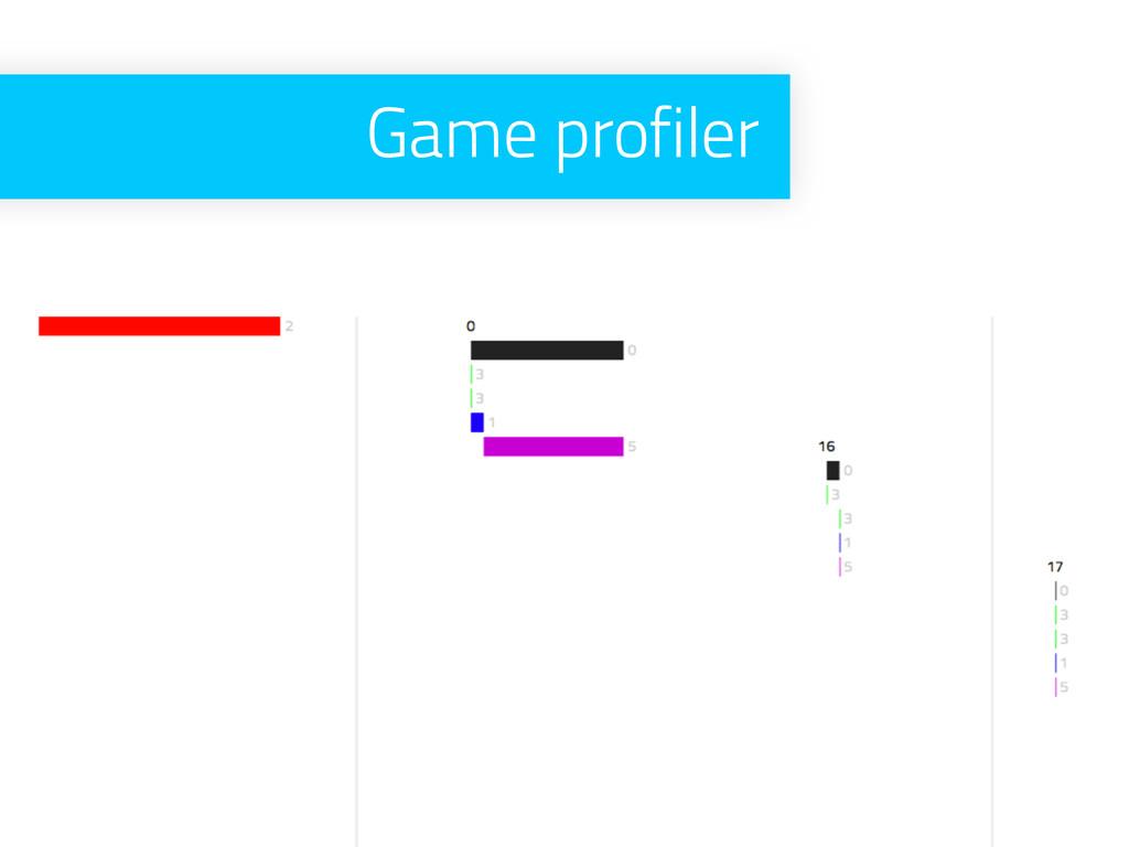 Game profiler