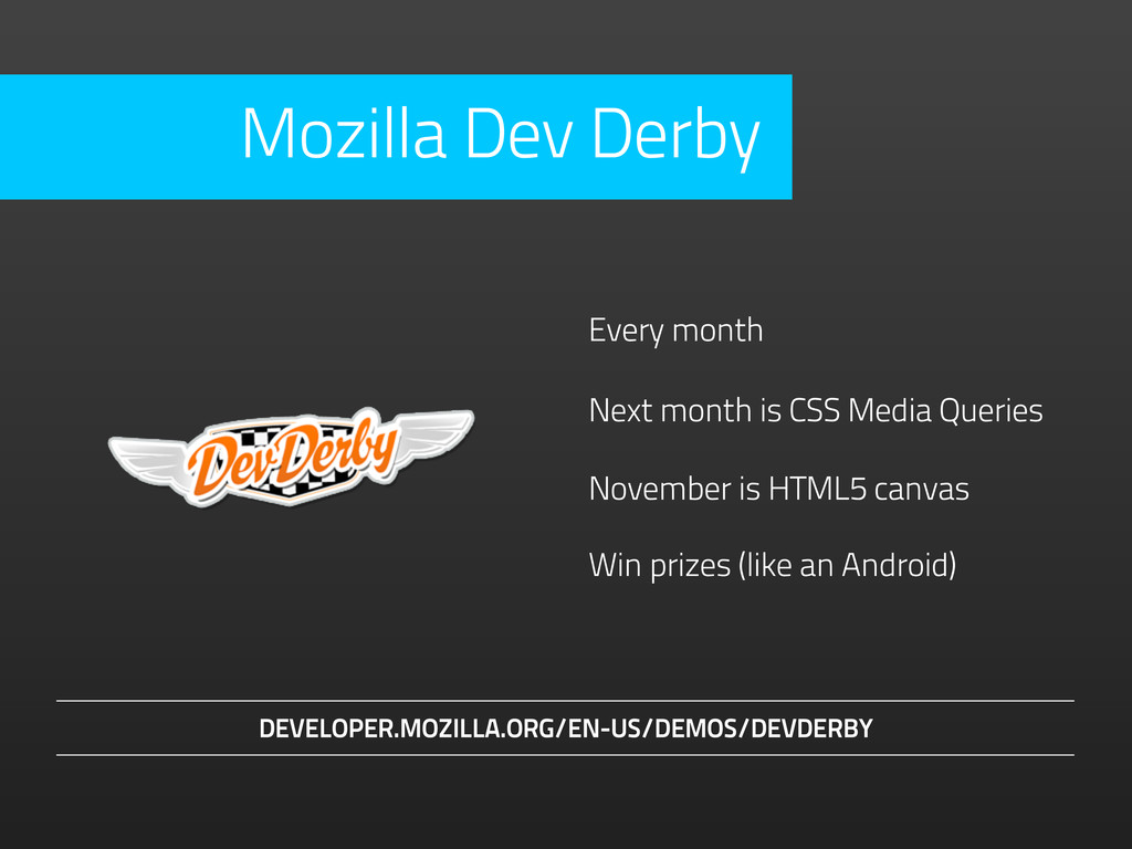 November is HTML5 canvas Every month Next month...