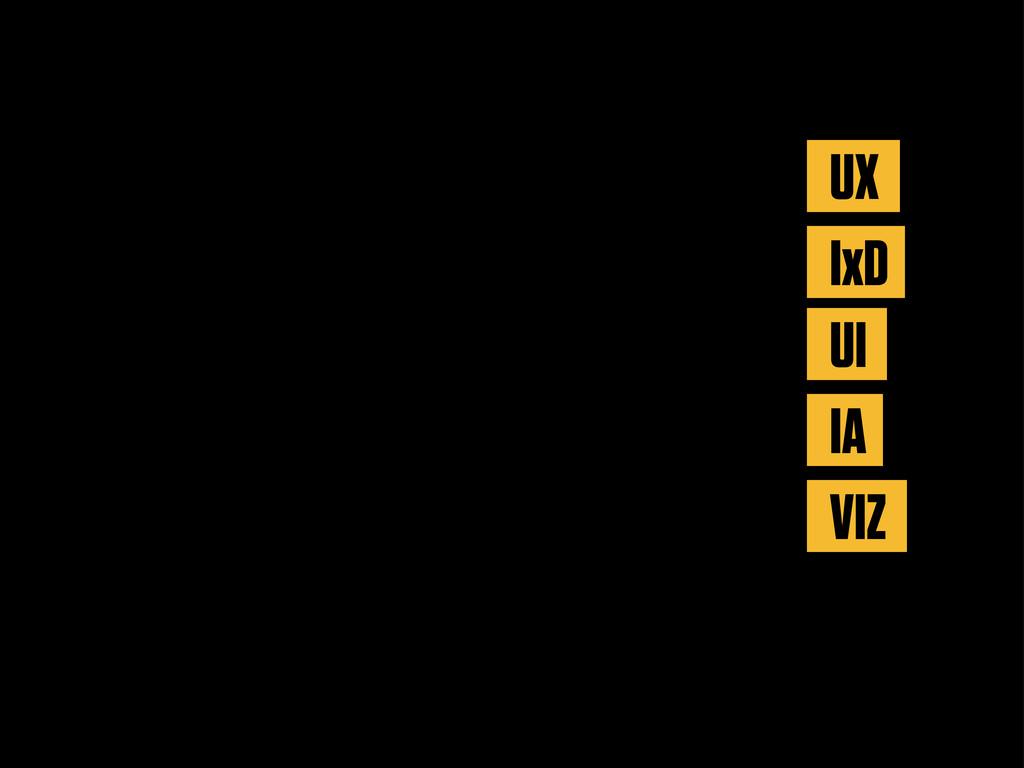 UX IxD UI IA VIZ