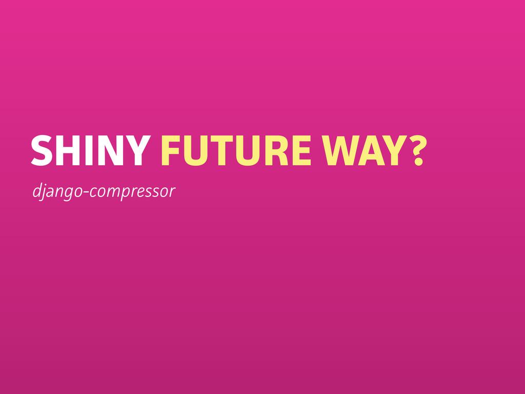 SHINY FUTURE WAY? django-compressor