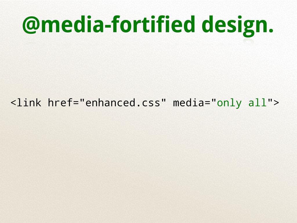 """@media-fortified design. <link href=""""enhanced.c..."""