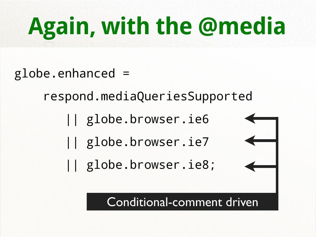 Again, with the @media globe.enhanced = respond...