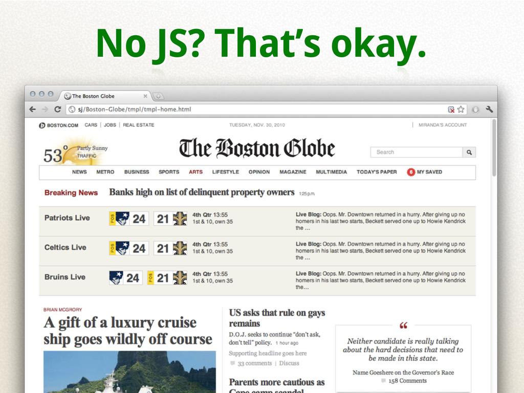 No JS? That's okay.