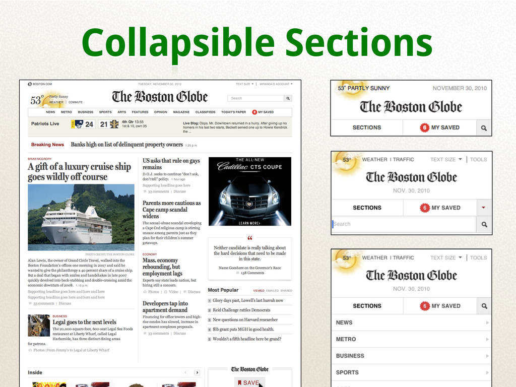 Collapsible Sections