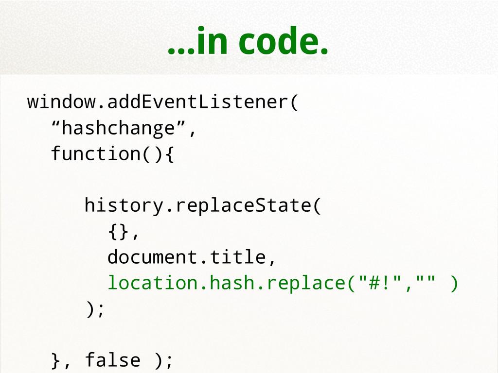 """...in code. window.addEventListener( """"hashchang..."""