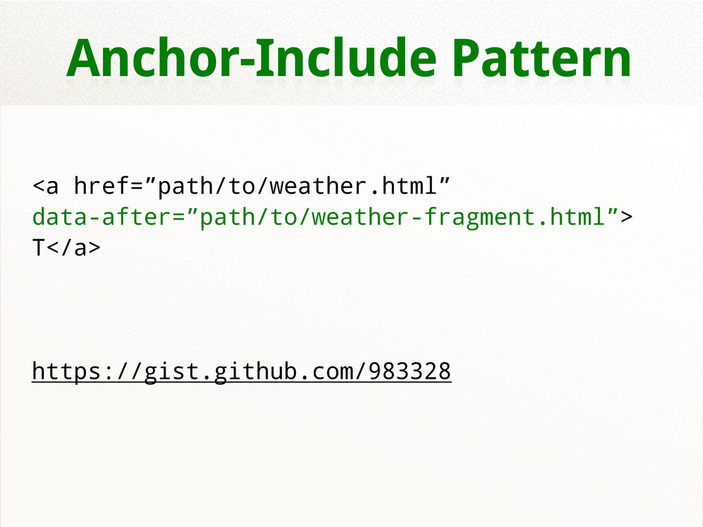 """Anchor-Include Pattern <a href=""""path/to/weather..."""