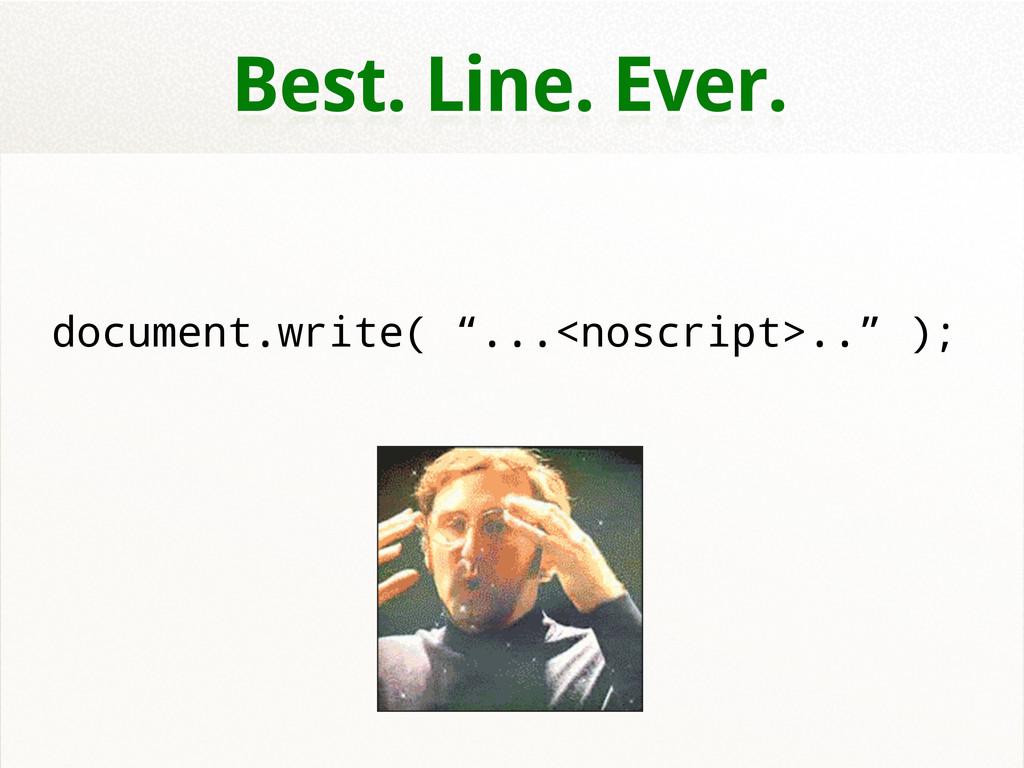 """Best. Line. Ever. document.write( """"...<noscript..."""
