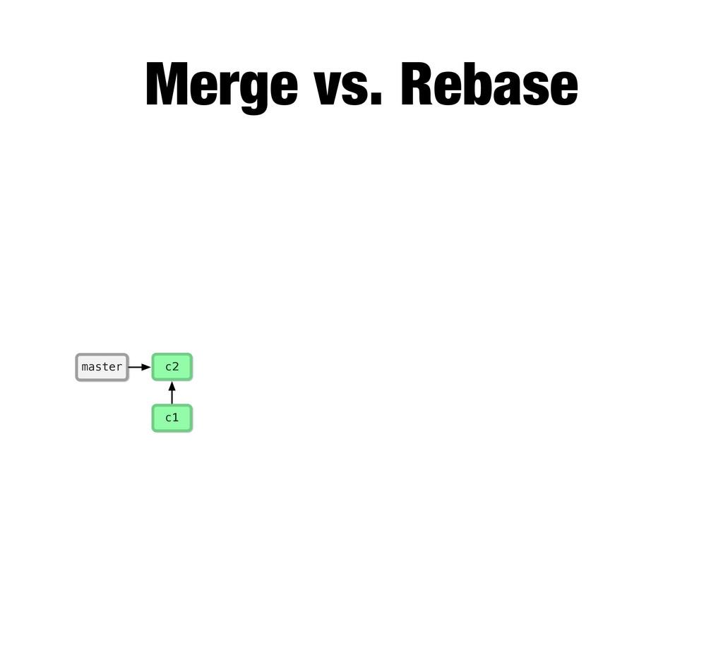 c1 master c2 Merge vs. Rebase