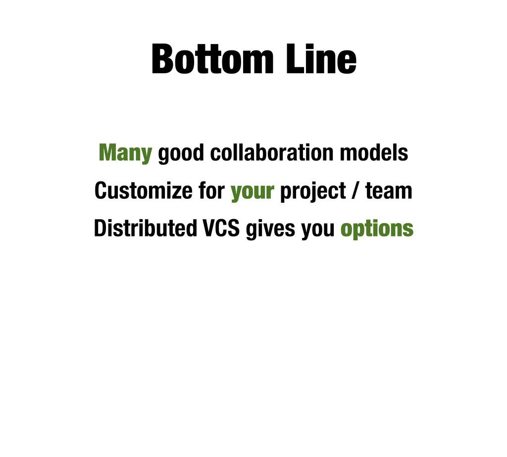 Bottom Line Many good collaboration models Cust...