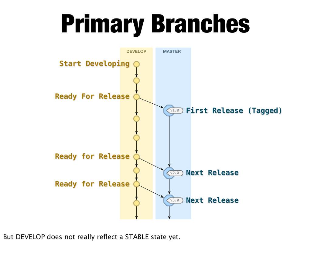 Primary Branches DEVELOP MASTER v1.0 v2.0 v3.0 ...