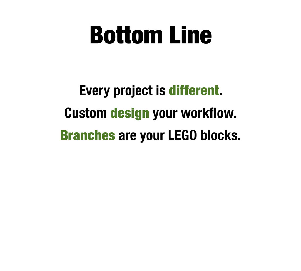 Bottom Line Every project is different. Custom ...