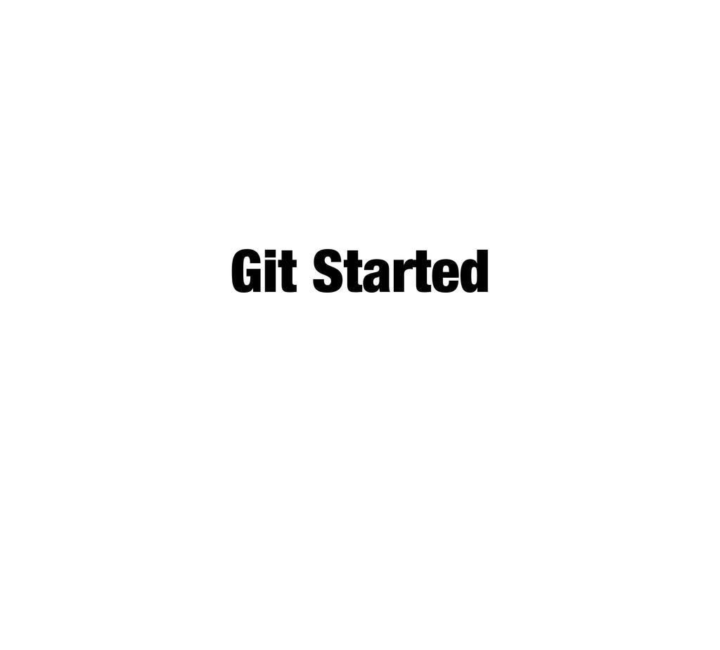 Git Started