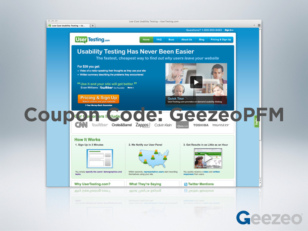 Coupon Code: GeezeoPFM