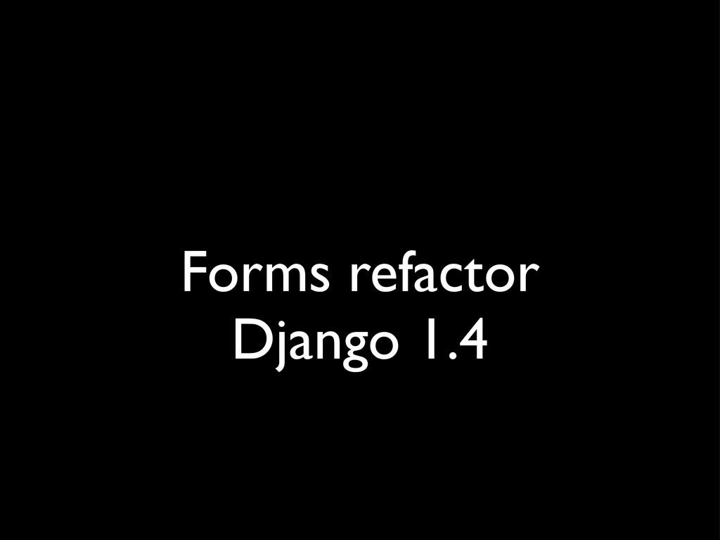 Forms refactor Django 1.4