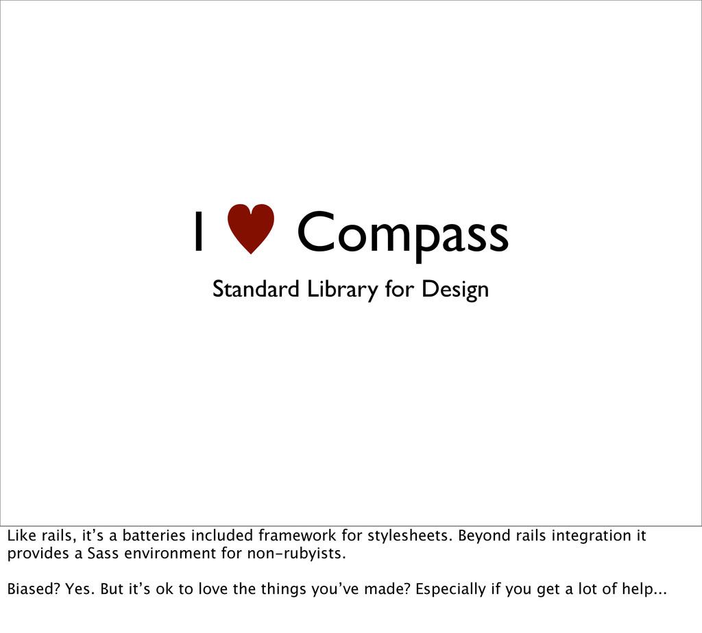 I — Compass Standard Library for Design Like ra...