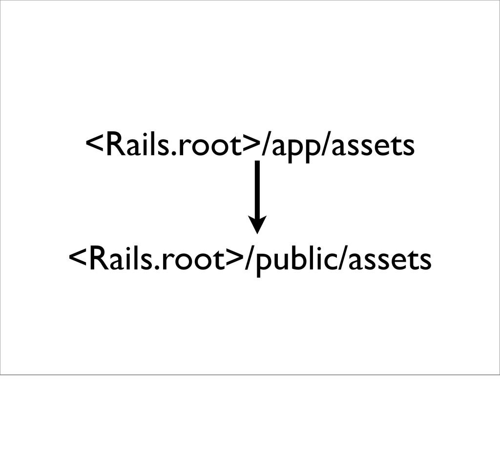 <Rails.root>/app/assets <Rails.root>/public/ass...