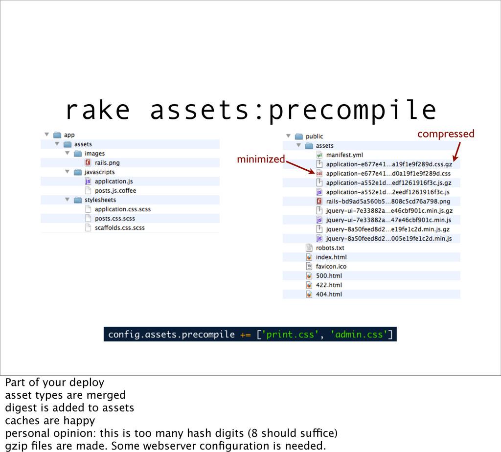 rake assets:precompile minimized compressed Par...