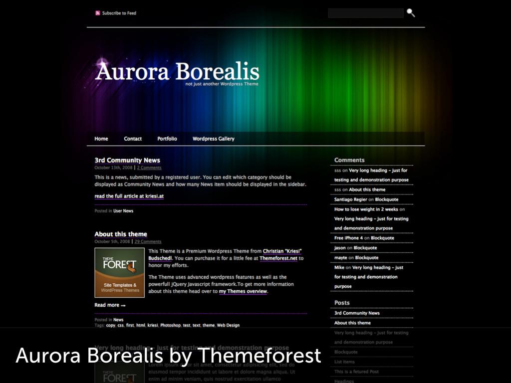 Aurora Borealis by Themeforest