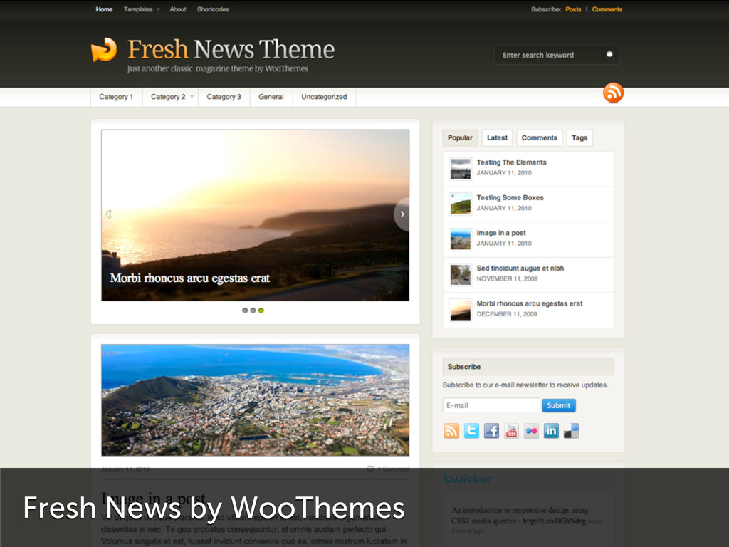 Fresh News by WooThemes