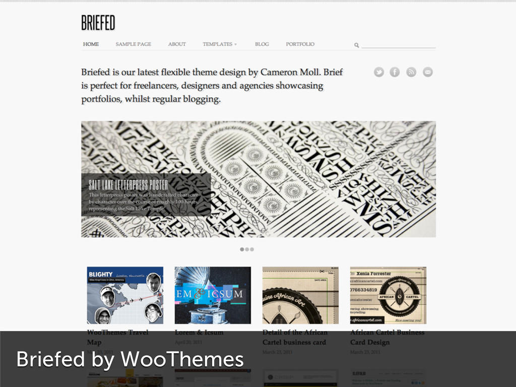 Briefed by WooThemes