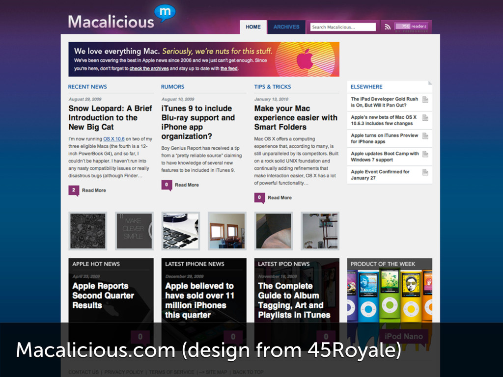 Macalicious.com (design from 45Royale)