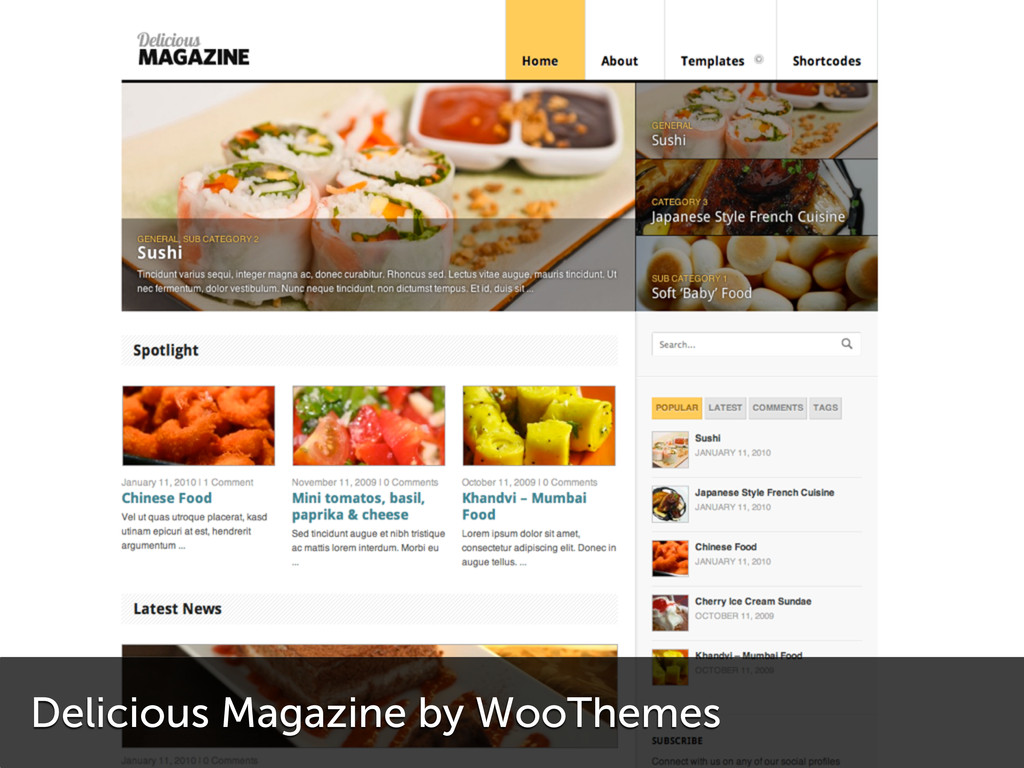 Delicious Magazine by WooThemes