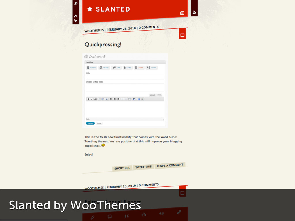 Slanted by WooThemes