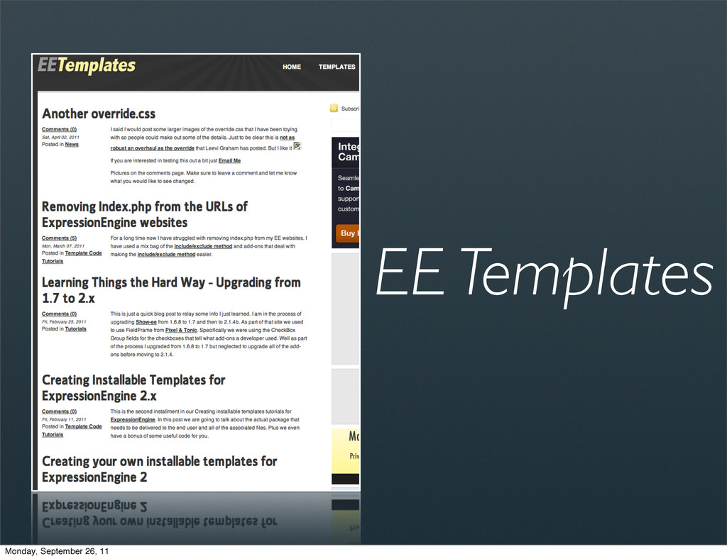 EE Templates Monday, September 26, 11