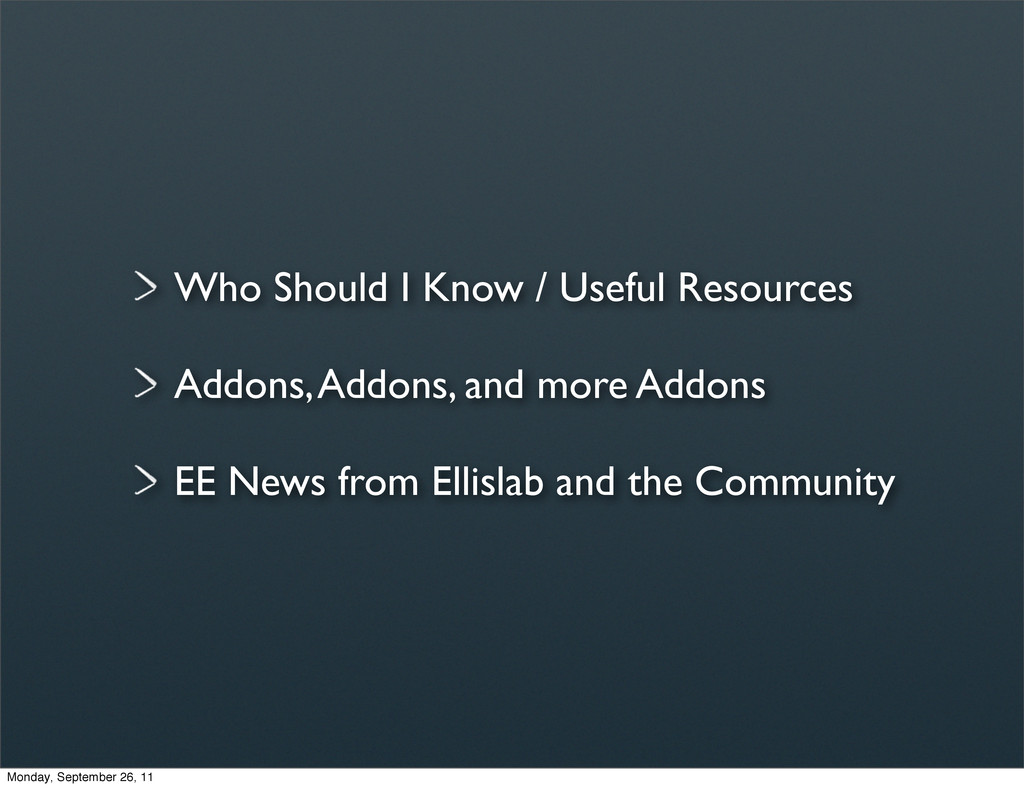 Who Should I Know / Useful Resources Addons, Ad...