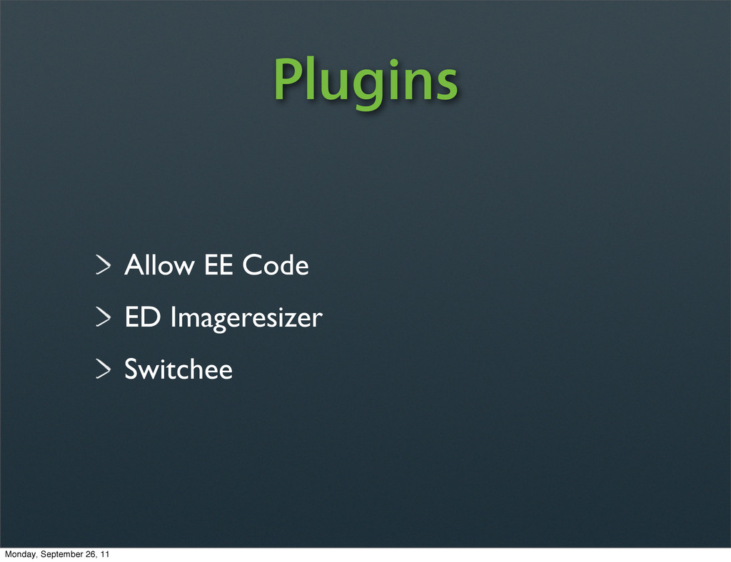Allow EE Code ED Imageresizer Switchee Plugins ...