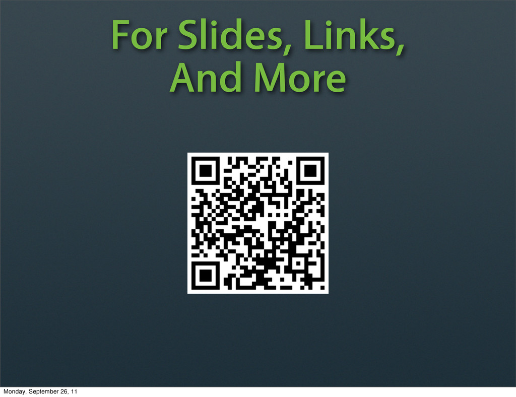 For Slides, Links, And More Monday, September 2...