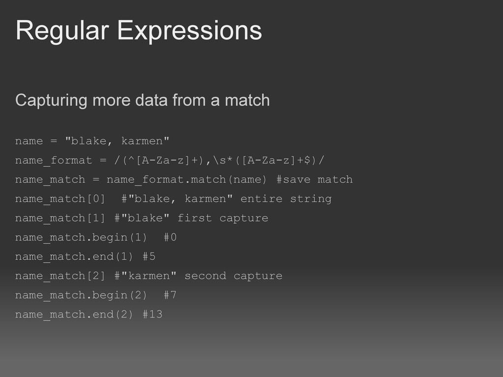 Regular Expressions Capturing more data from a ...