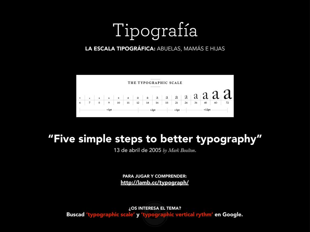 Tipografía ¿OS INTERESA EL TEMA? Buscad 'typogr...