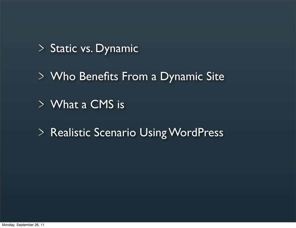 Static vs. Dynamic Who Benefits From a Dynamic S...