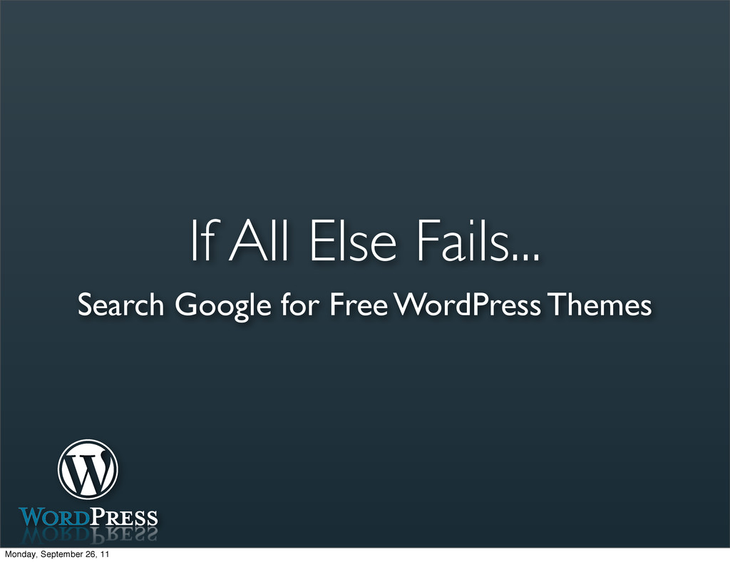 If All Else Fails... Search Google for Free Wor...